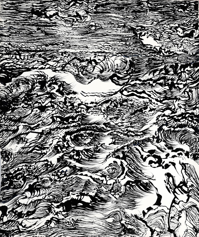 Thème : La mer -  Porspoder. Oeuvre de Raymond Humbert. Crédit Raymond Humbert. Photo P. Cibille