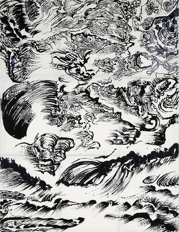 Thème : La mer - Porspoder-  Oeuvre de Raymond Humbert. Crédit Raymond Humbert. Photo P. Cibille