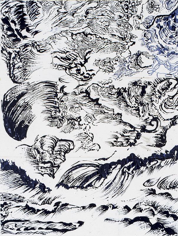 Thème : La mer -  Porspoder. Oeuvre de Raymond Humbert. Crédit Raymond Humbert. Photo G. Puech