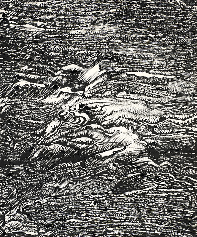 Thème la mer - Porspoder. Oeuvre de Raymond Humbert. Photo G. Puech