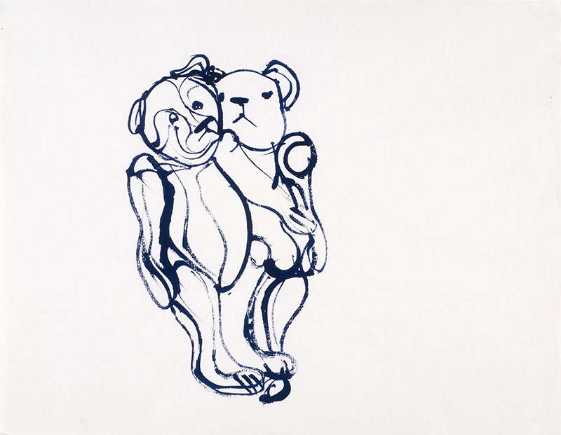 Thème : les ours, de Raymond Humbert. Photos Archives du Musée des Ars populaires de Laduz