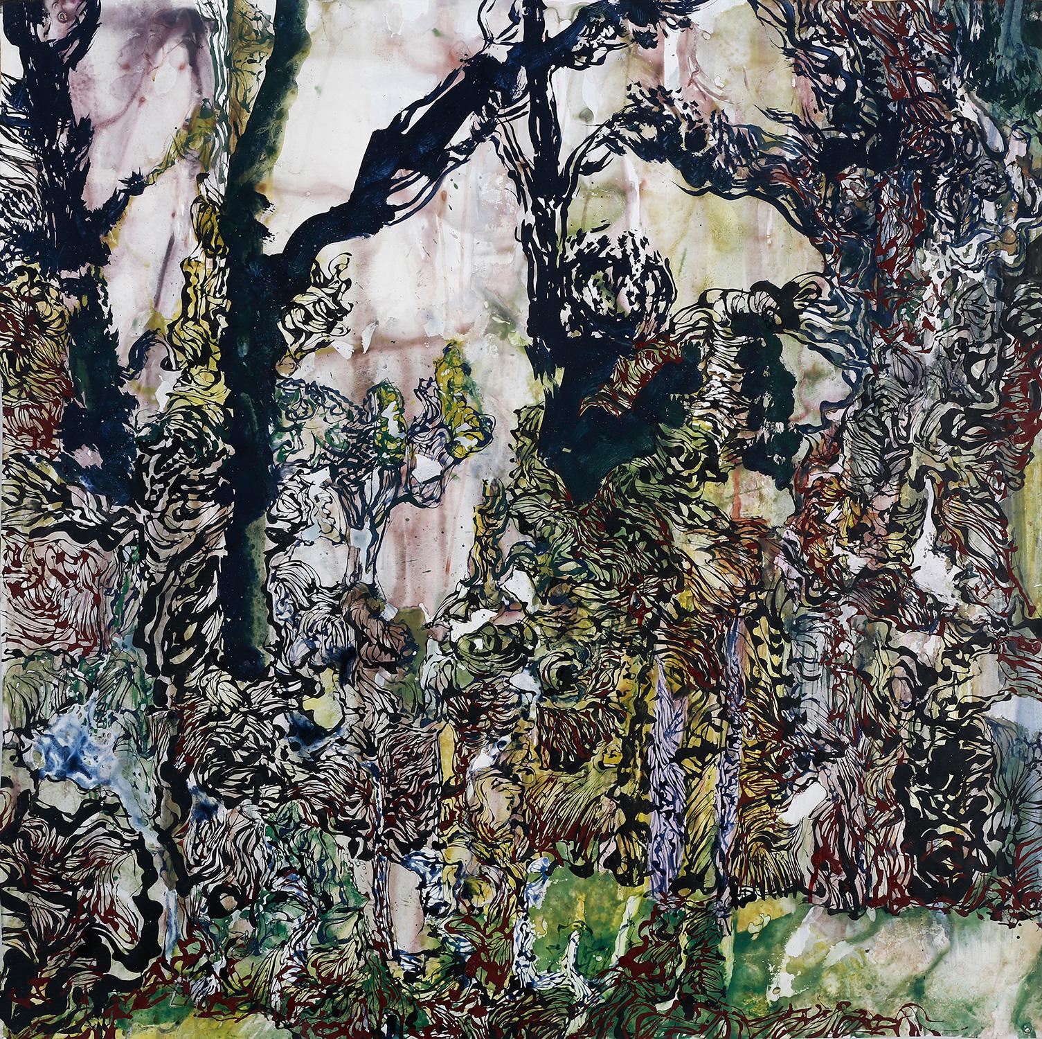 Thème : Paysage - Jardin de Laduz-  Oeuvre de Raymond Humbert. Crédit Raymond Humbert. Photo P. Cibille